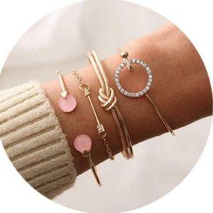 Jewelry - ‼️2/$25‼️ 4 piece Stackable Bangle Bracelets